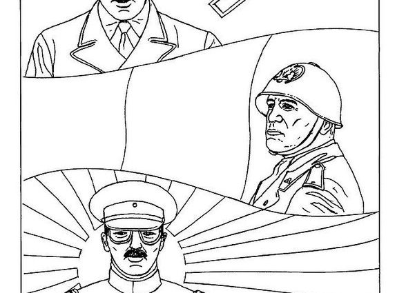 588x425 Adolf Hitler Coloring Page Coloring Page Hitler Mussolini Hirohito