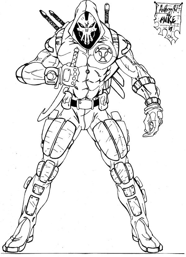 Hitman Coloring Pages At Getdrawings Com Free For