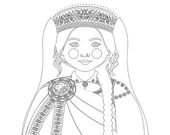 340x270 Hmong Girl Matryoshka Coloring Sheet Printable