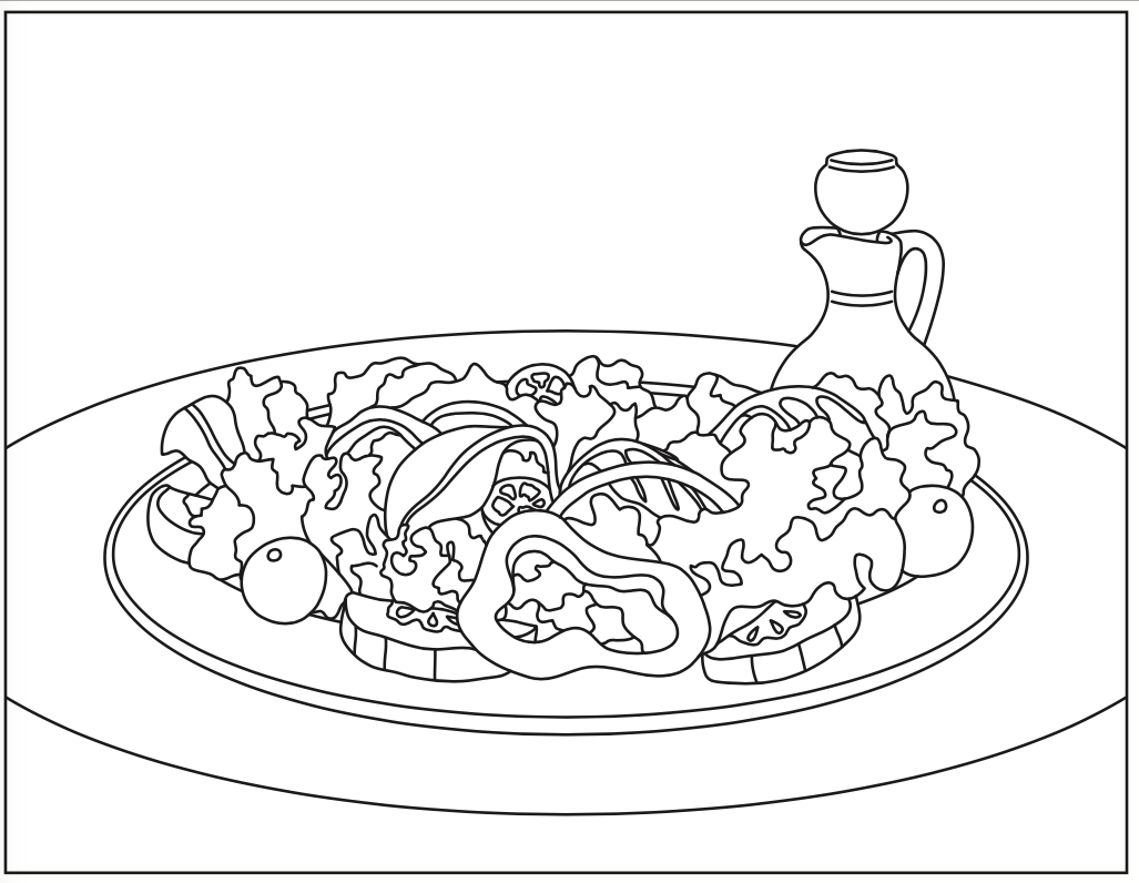 1027x796 Summer Salad Coloring Page