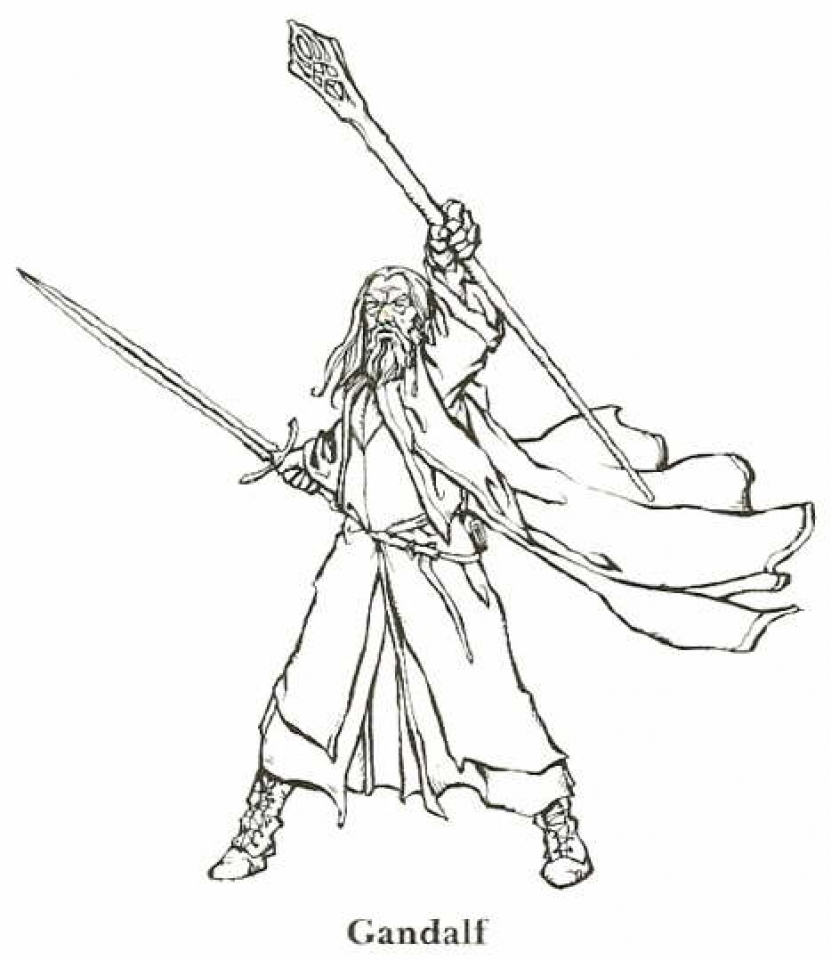 831x960 The Hobbit Coloring Pages