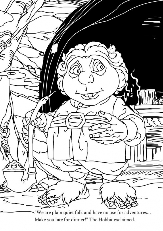 678x960 Get This Free The Hobbit Coloring Pages Online !