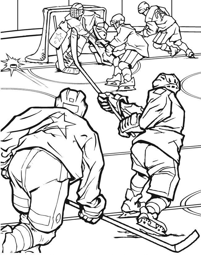 Hockey Coloring Pages