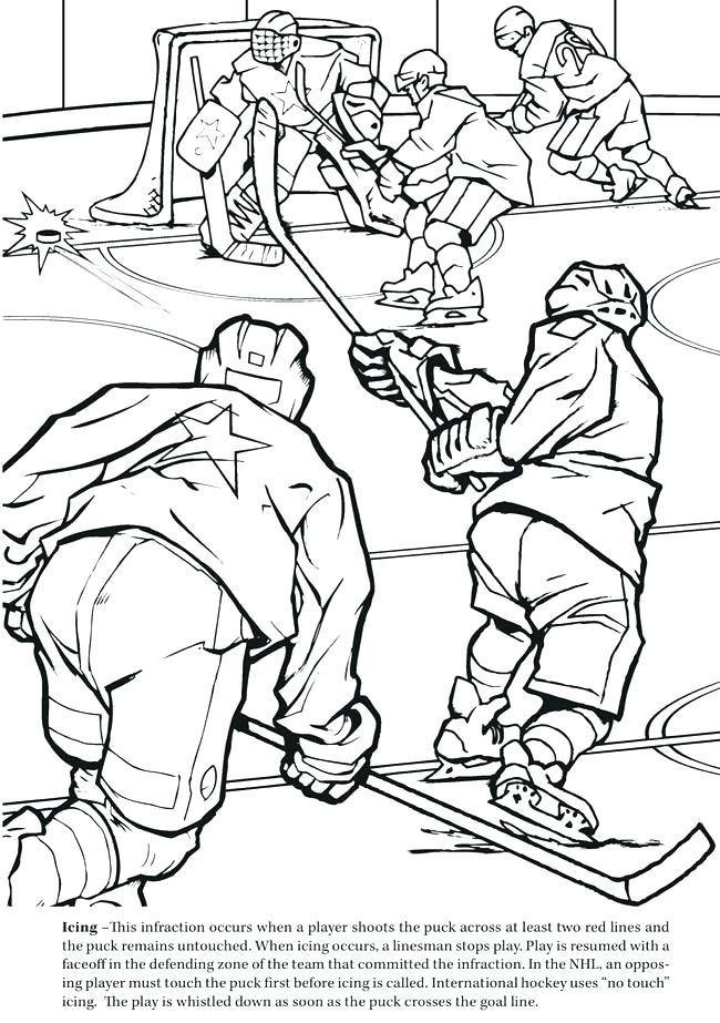 Hockey Goalie Coloring Pages At Getdrawings Free Download