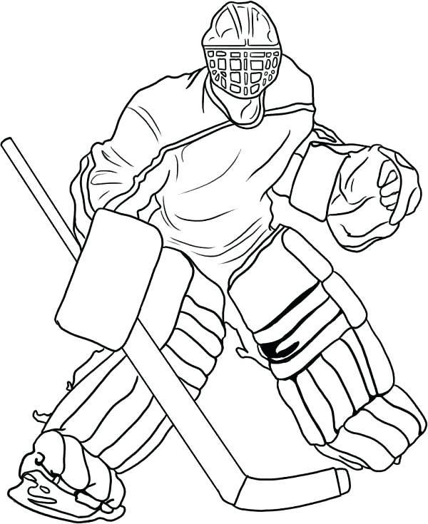 600x735 Hockey Goalie Coloring Pages Hockey Coloring Sheets Free Printable