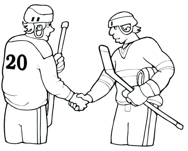 736x594 Hockey Goalie Coloring Pages