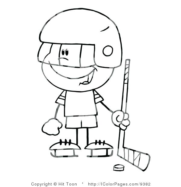 600x620 Hockey Goalie Helmet Coloring Page Pages Vector Of A Happy Little