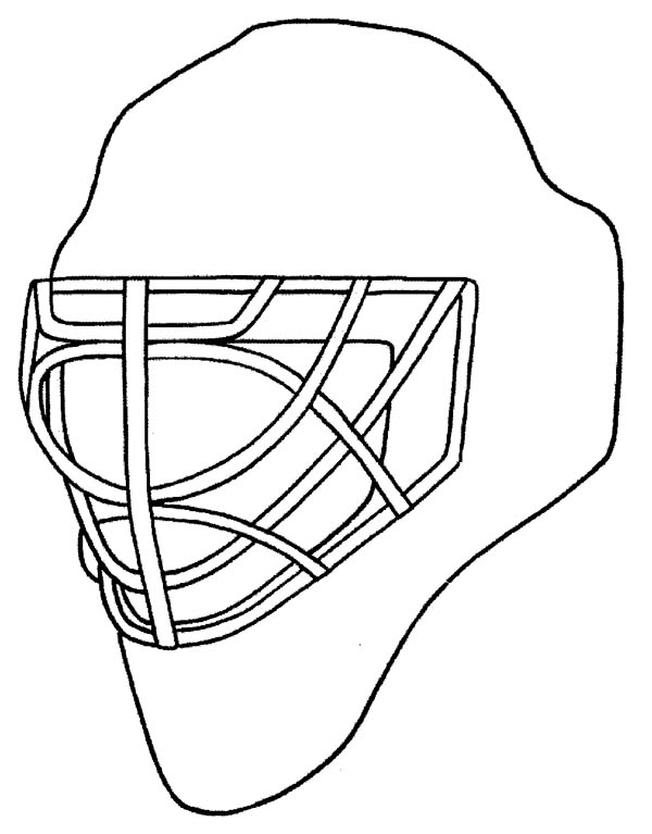 600x767 Hockey Helmet Coloring Page