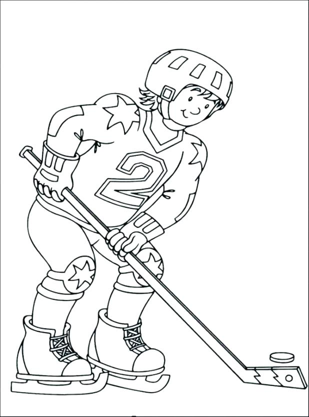 618x834 Hockey Goalie Coloring Pages