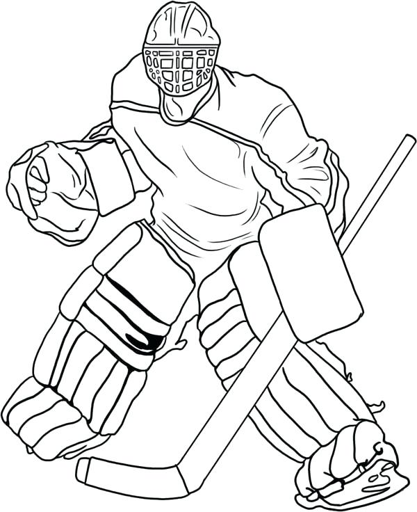 600x736 Coloring Pages Hockey Hockey Player Coloring Pages Hockey Helmet