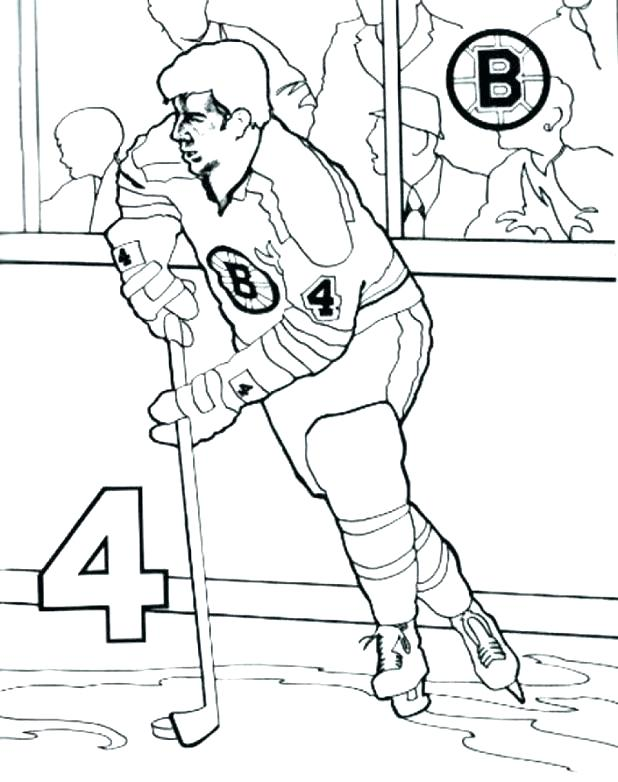 Hockey Player Coloring Page at GetDrawings.com | Free for ...
