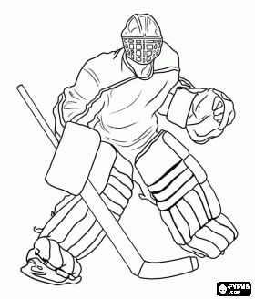 Hockey Puck Coloring Page