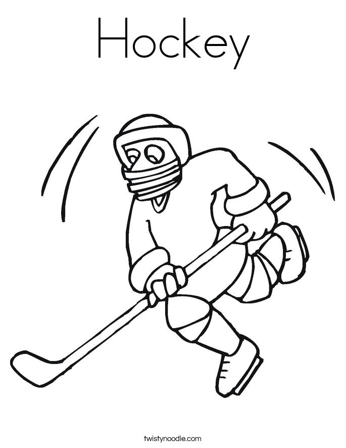 685x886 Hockey Coloring Page