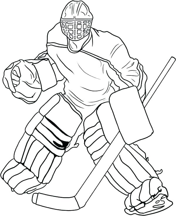 600x736 Hockey Player Coloring Pages Hockey Coloring Page Hockey Coloring