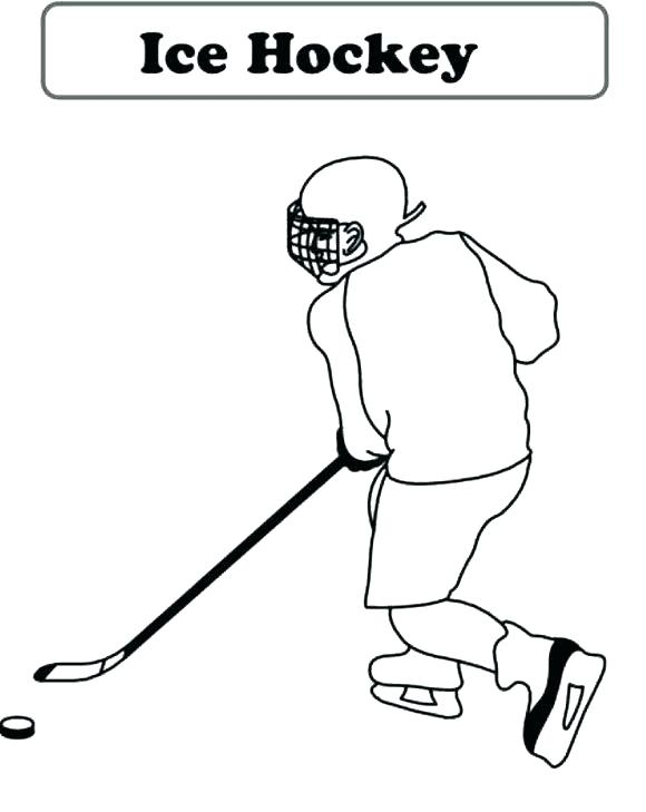 580x729 Hockey Player Coloring Pages Hockey Coloring Pages Stick And Puck