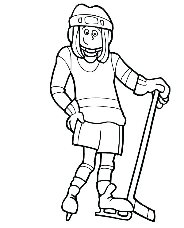 600x741 Hockey Coloring Page