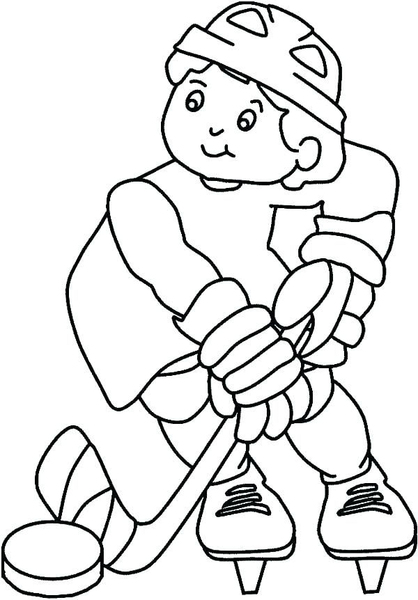 600x862 Hockey Player Coloring Pages