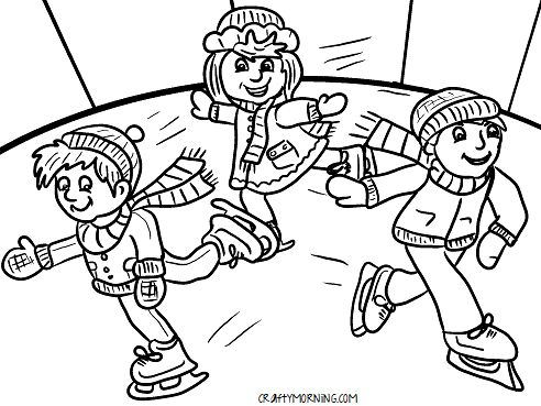 Hockey Rink Coloring Pages