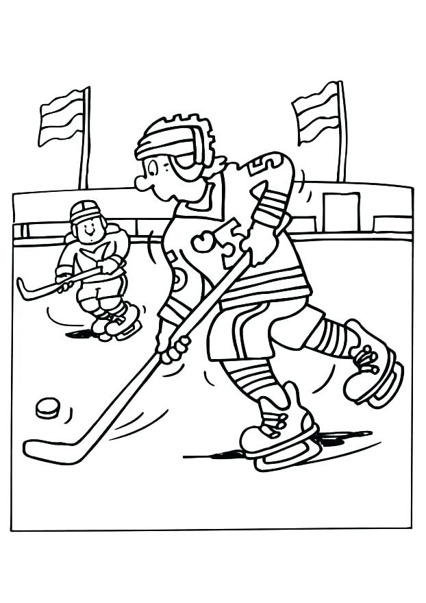 622x880 Hockey Rink Coloring Pages Goalie Player Page Players Pag