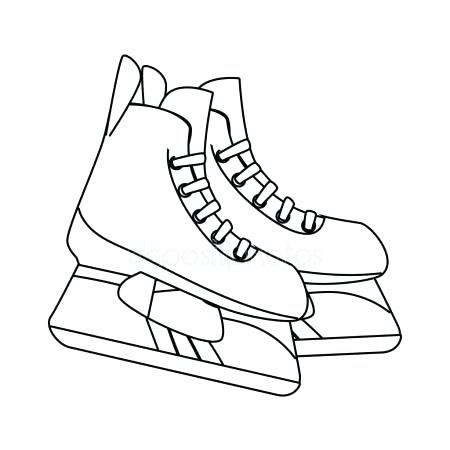 Hockey Skate Coloring Page