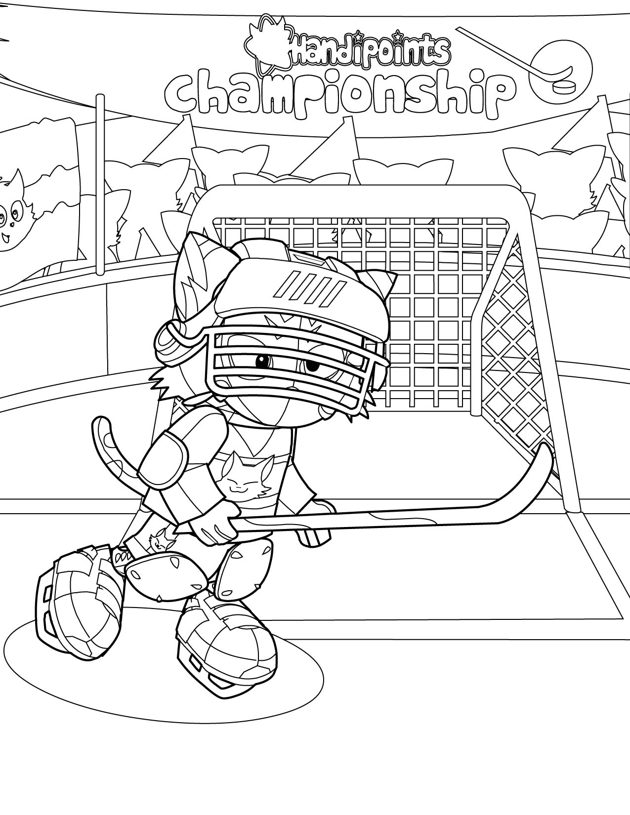1275x1650 Hockey Player Coloring Page