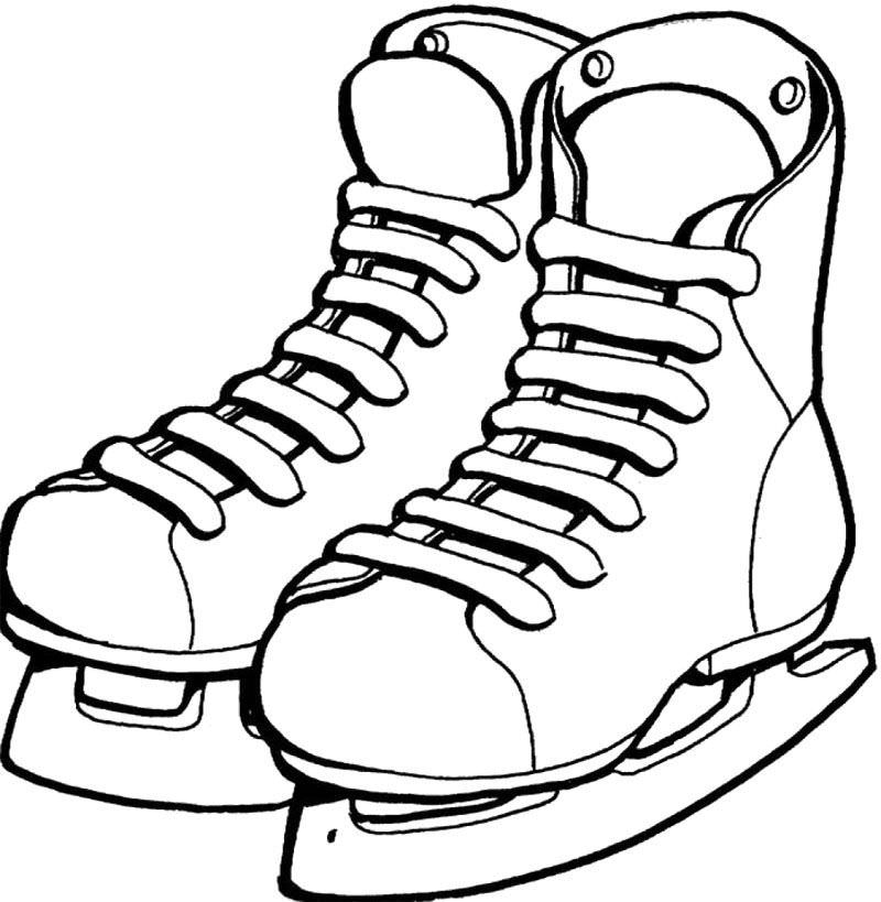 800x819 Hockey Skate Coloring Pages