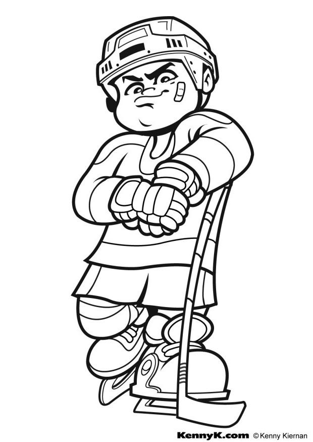 620x875 Hockey Sports Coloring Pages