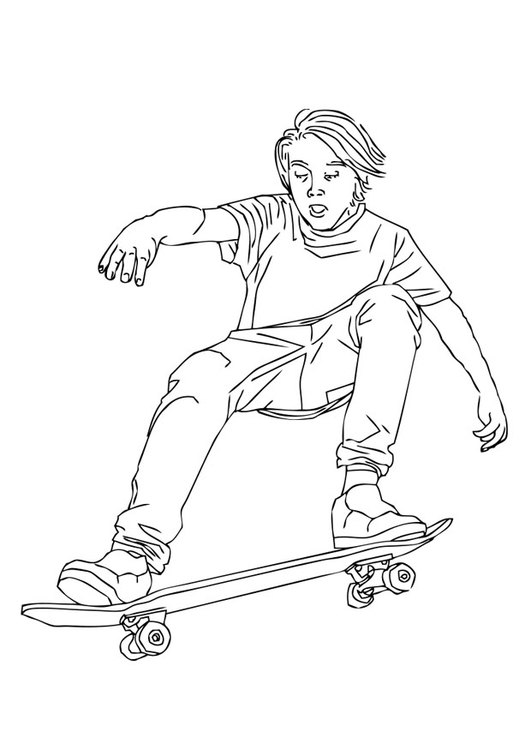 531x750 Coloring Page To Skate