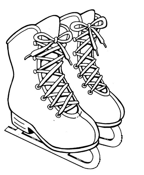 607x737 Ice Skates Coloring Page Coloring Book