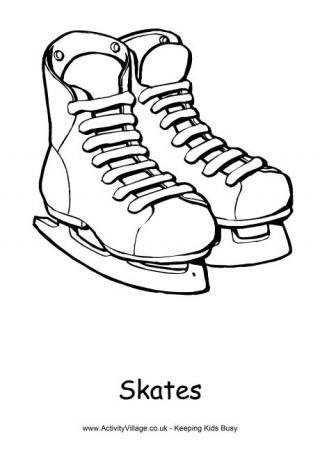 320x452 Skates Colouring Page