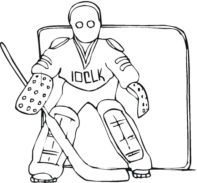 630x587 Hockey Coloring Page