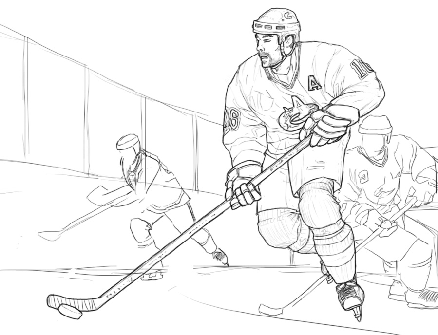 899x688 Hockey Coloring Pages