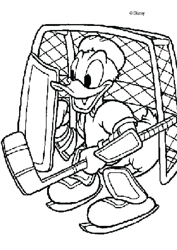 601x850 Hockey Coloring Pages Duck Coloring Pages Duck As A Hockey Goal