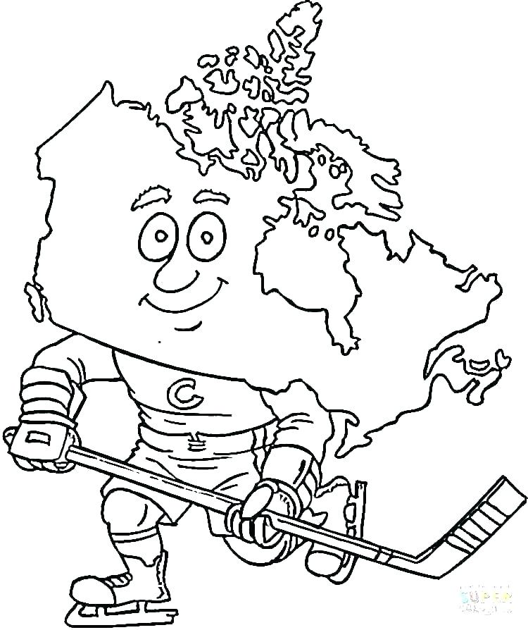 750x894 Hockey Coloring Pages Hockey Coloring Pages Surprising Kids Field