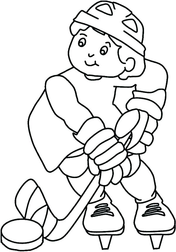 600x862 Hockey Coloring Pages Hockey Stick Coloring Pages Free