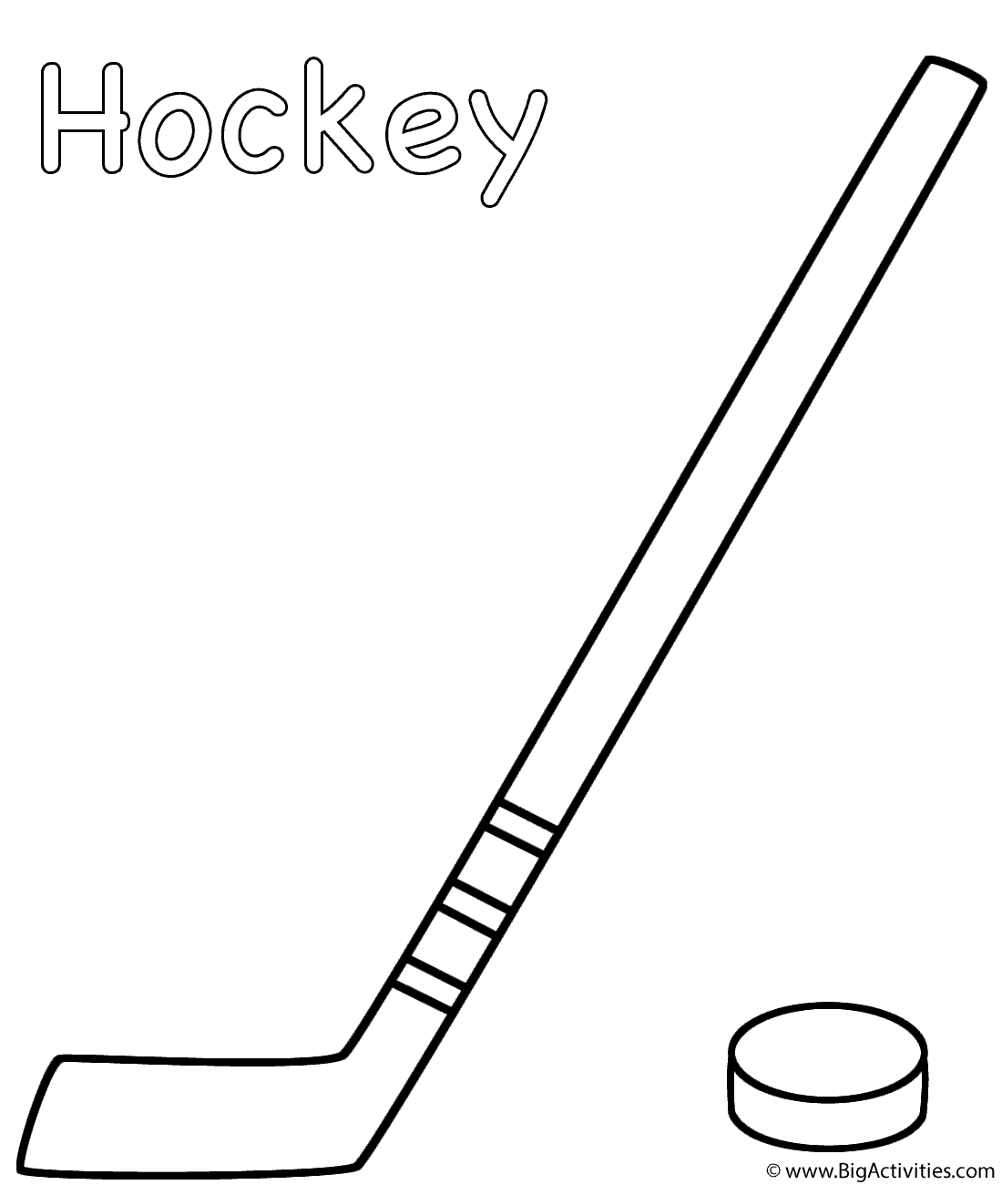 1100x1300 Hockey Stick With Puck