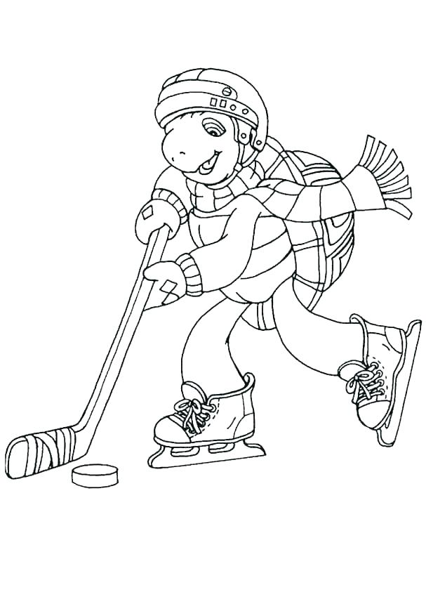 607x850 Printable Hockey Coloring Pages Printable Hockey Stick Coloring