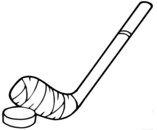 529x436 Hockey Stick Coloring Pages Drawing Board Weekly