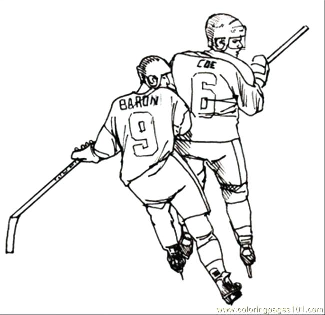 Hockey Stick Coloring Page At Getdrawings Com Free For Personal