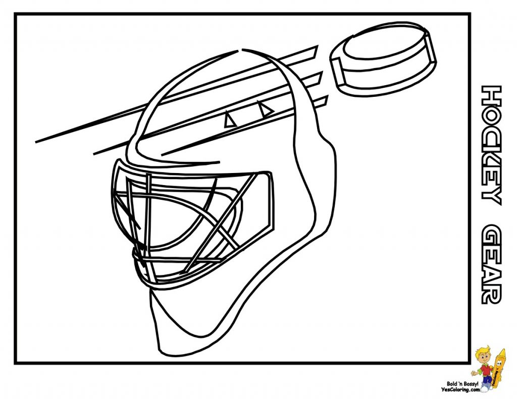 1024x791 Coloring Pages Of Hockey Equipment Fresh Hockey Stick Outline
