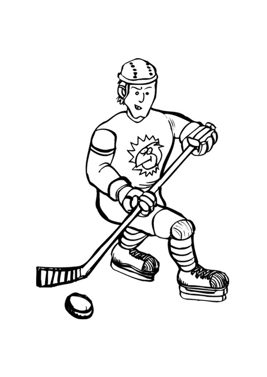 531x750 Coloring Page Ice Hockey