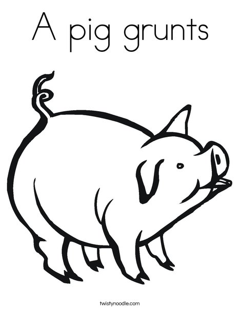 Hog Coloring Page