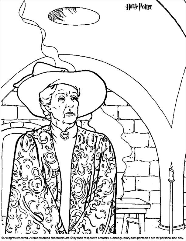 Hogwarts Castle Coloring Page