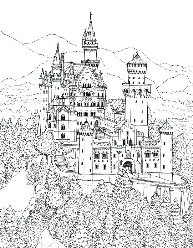 Hogwarts Castle Coloring Page at GetDrawings | Free download