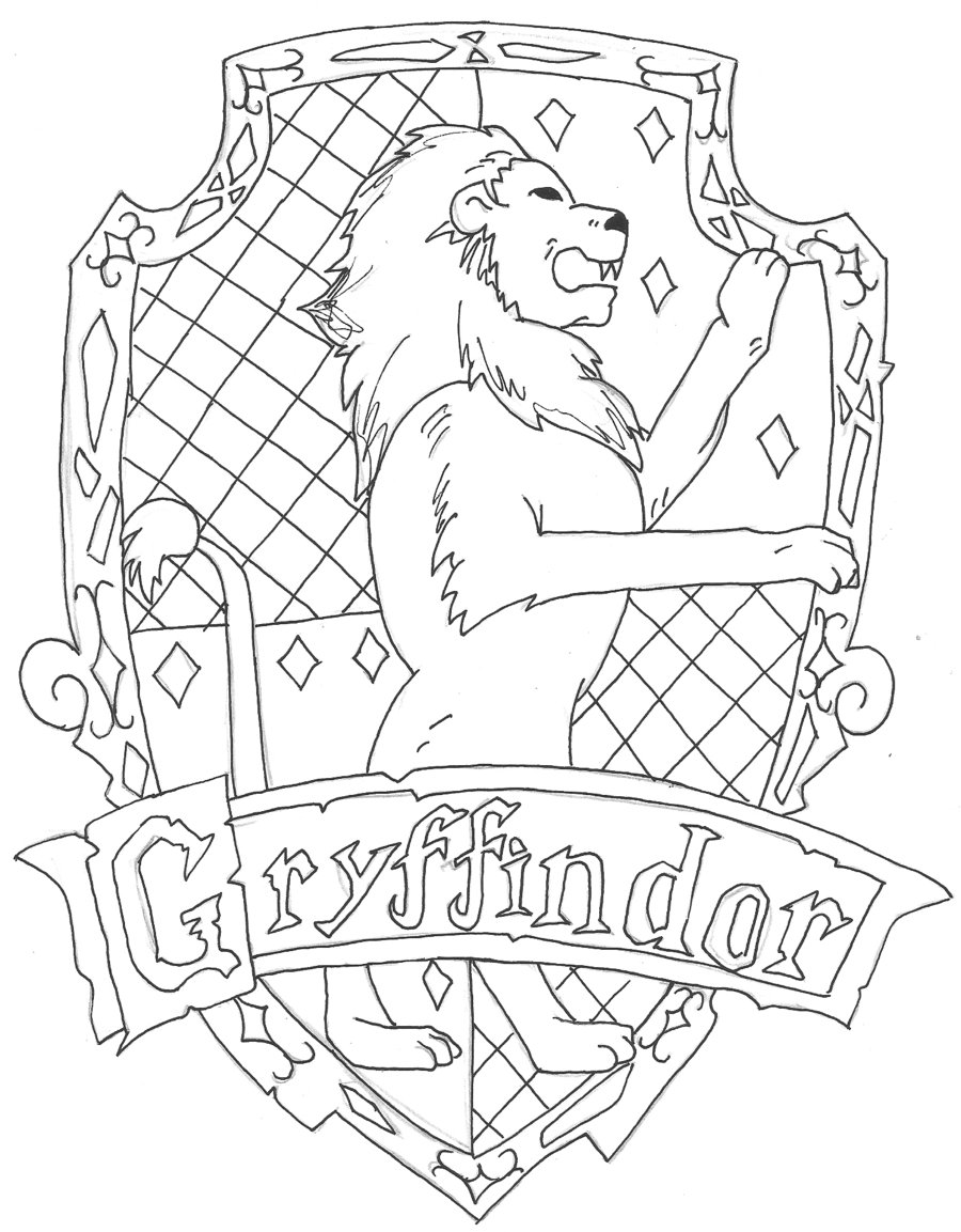 900x1153 Gryffindor Crest Coloring Page Home Arresting Robertjhastings Net