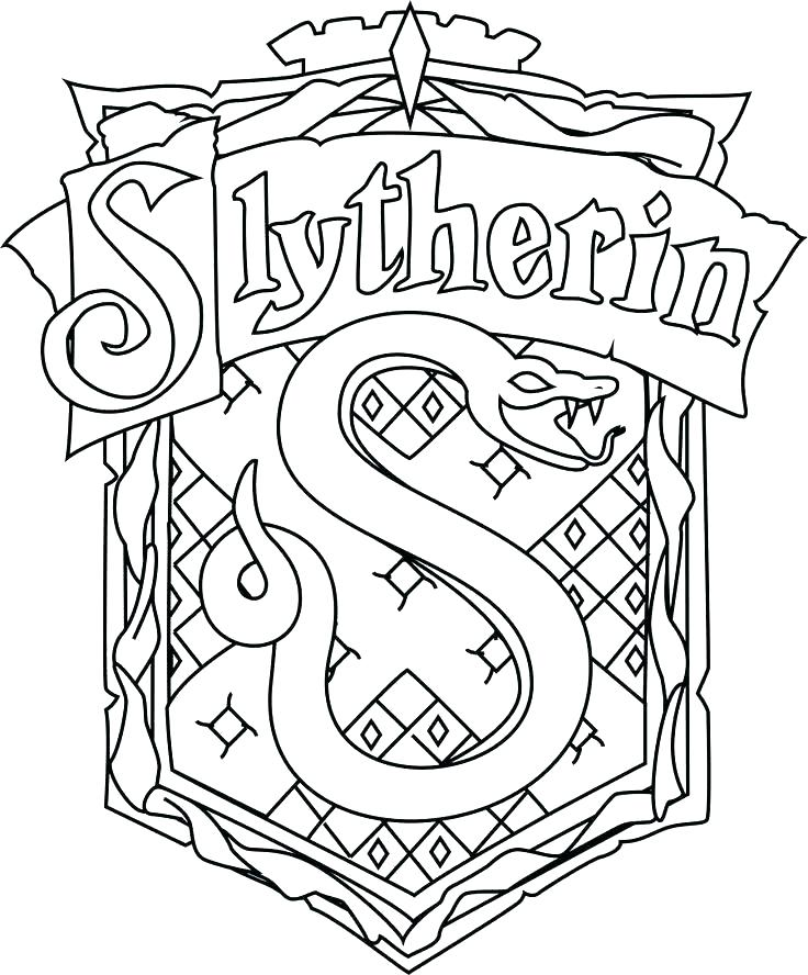 hogwarts crest coloring page 6