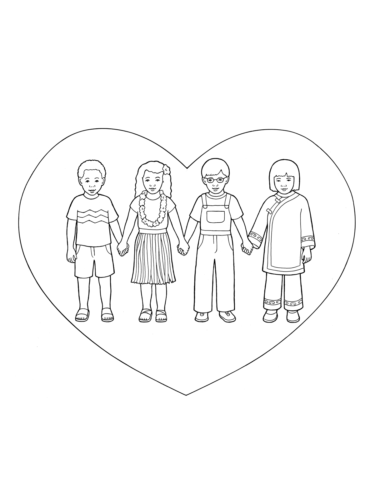 1200x1600 Children Holding Hands In Heart