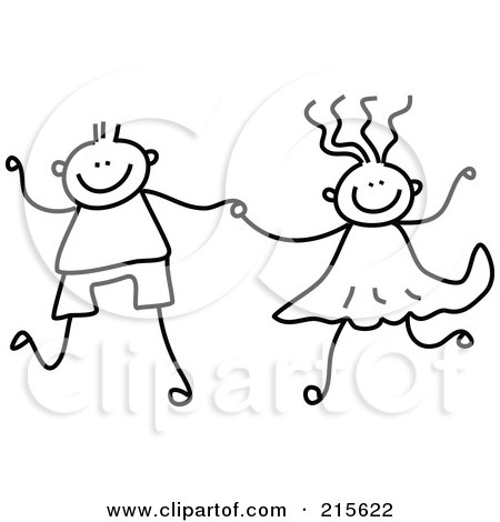 450x470 Deron's Gallery Boy And Girl Holding Hands Coloring Pages