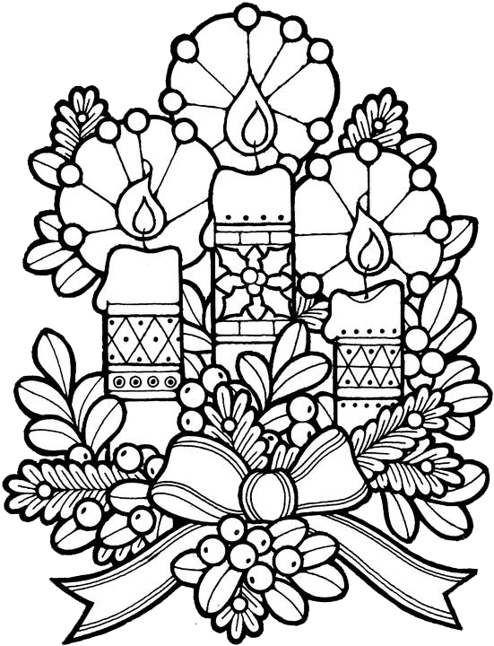 551x720 Holiday Coloring Pages For Adults Color Bros