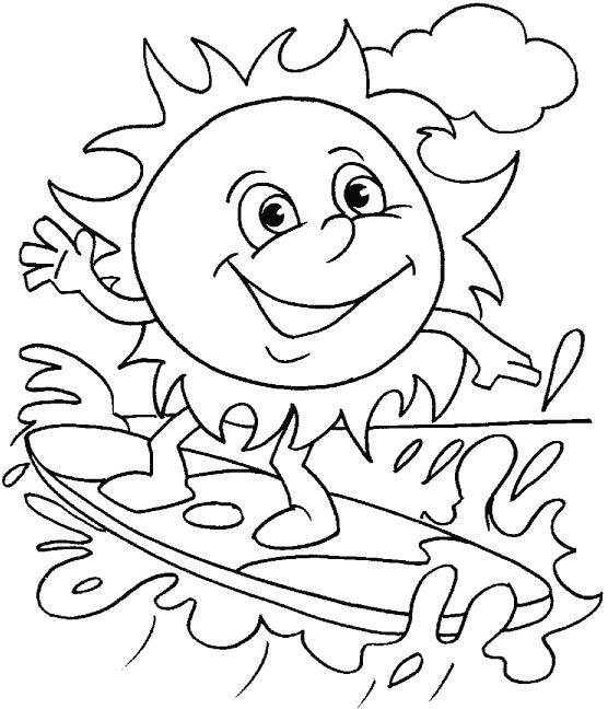 556x648 Summer Holiday Coloring Pages